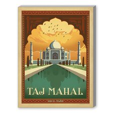 Taj Mahal Vintage Advertisement on Canvas