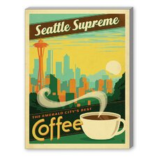 Seattle Supreme Vintage Advertisement on Canvas