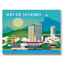 Rio Graphic Art on Canvas