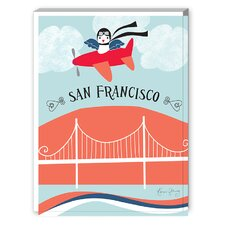San Francisco Plane Graphic Art on Canvas