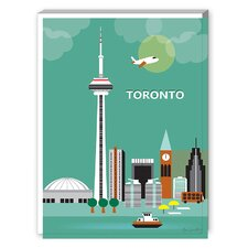 Toronto Graphic Art on Canvas