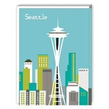 Seattle Graphic Art on Canvas