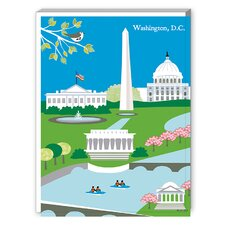 Washington DC Graphic Art on Canvas