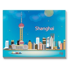 Shanghai Graphic Art on Canvas