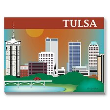 Tulsa Graphic Art on Canvas