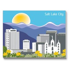 Salt Lake Graphic Art on Canvas
