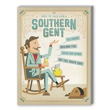 Talk Southern Gent Vintage Advertisement on Canvas