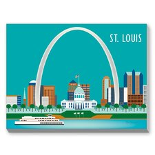 Saint Louis Graphic Art on Canvas