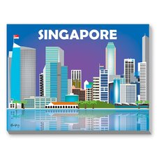 Singapore Graphic Art on Canvas
