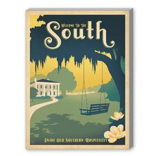 The South Vintage Advertisement on Canvas