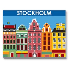 Stockholm Graphic Art on Canvas