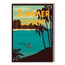 Summer Lovin' Vintage Advertisement on Canvas