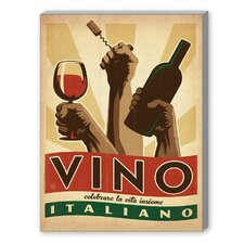 Vino Italiano Graphic Art on Canvas