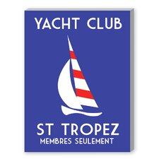 Yacht Club Graphic Art on Canvas