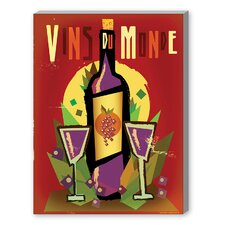 Vin du Monde Vintage Advertisement on Canvas