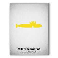 Yellow Submarine Graphic Art on Canvas