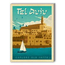 Tel Aviv Graphic Art on Canvas