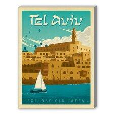 Tel Aviv Graphic Art on Canvas