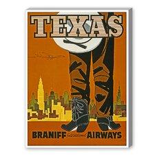 Travel Texas Graphic Art on Canvas