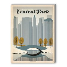 World Travel 'Central Park, NYC' by Joel Anderson Vintage Advertisement