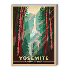 World Travel 'Yosemite National Park' by Joel Anderson Vintage Advertisement