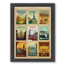 World Travel Multi 1 Framed Vintage Advertisement