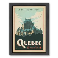 World Travel Quebec Framed Vintage Advertisement