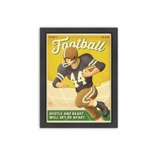 Football New Framed Vintage Advertisement