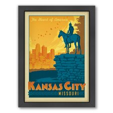 Kansa City Framed Vintage Advertisement