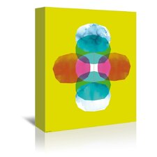 Cross Journey Bright Graphic Art on Gallery Wrapped Canvas