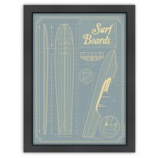 Vintage SurfBoards Poster