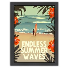 Vintage Endless Summer Wave Poster
