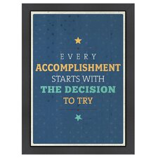 Inspirational Quotes Accomplishment Poster