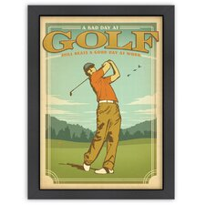 World Travel Good Day at Golf Poster