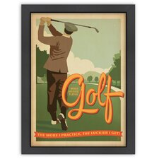 World Travel Practice Golf Poster