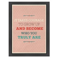 Inspirational Quotes 'Courage' by Meme Hernandez Textual Art