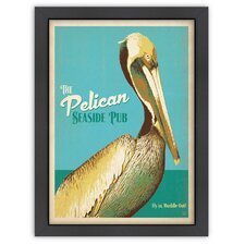 Coastal 'Pelican Pub' by Joel Anderson Vintage Advertisement