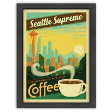 Coffee 'Seattle Supreme' by Joel Anderson Vintage Advertisement