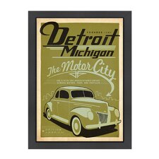 World Travel 'Detroit Michigan' by Joel Anderson Vintage Advertisement