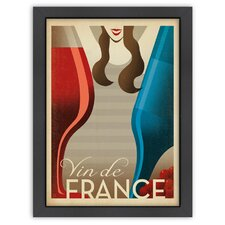 World Travel Vin de France Poster