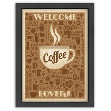 Coffee 'Welcome Coffee Lovers' by Joel Anderson Vintage Advertisement