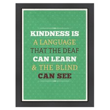 Inspirational Quotes Kindness Poster