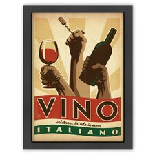 <strong>Americanflat</strong> World Travel Vino Italiano Poster