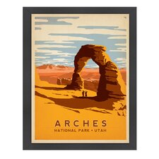 World Travel Arches 'National Park' by Joel Anderson Vintage Advertisement