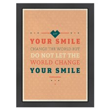 <strong>Americanflat</strong> Inspirational Quotes Smile Poster