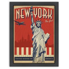 World Travel NYC - Liberty Skyline Poster