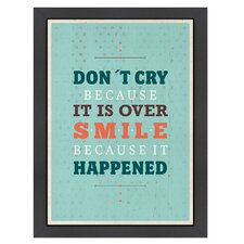 Inspirational Quotes 'Cry Smile' by Meme Hernandez Textual Art