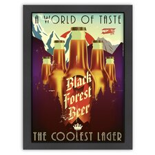 'Forest Beer' by Diego Patino Vintage Advertisement