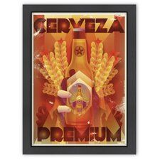 'Cerveza Premium' by Diego Patino Vintage Advertisement