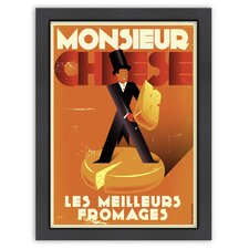 Vintage Monsieur Cheese Poster